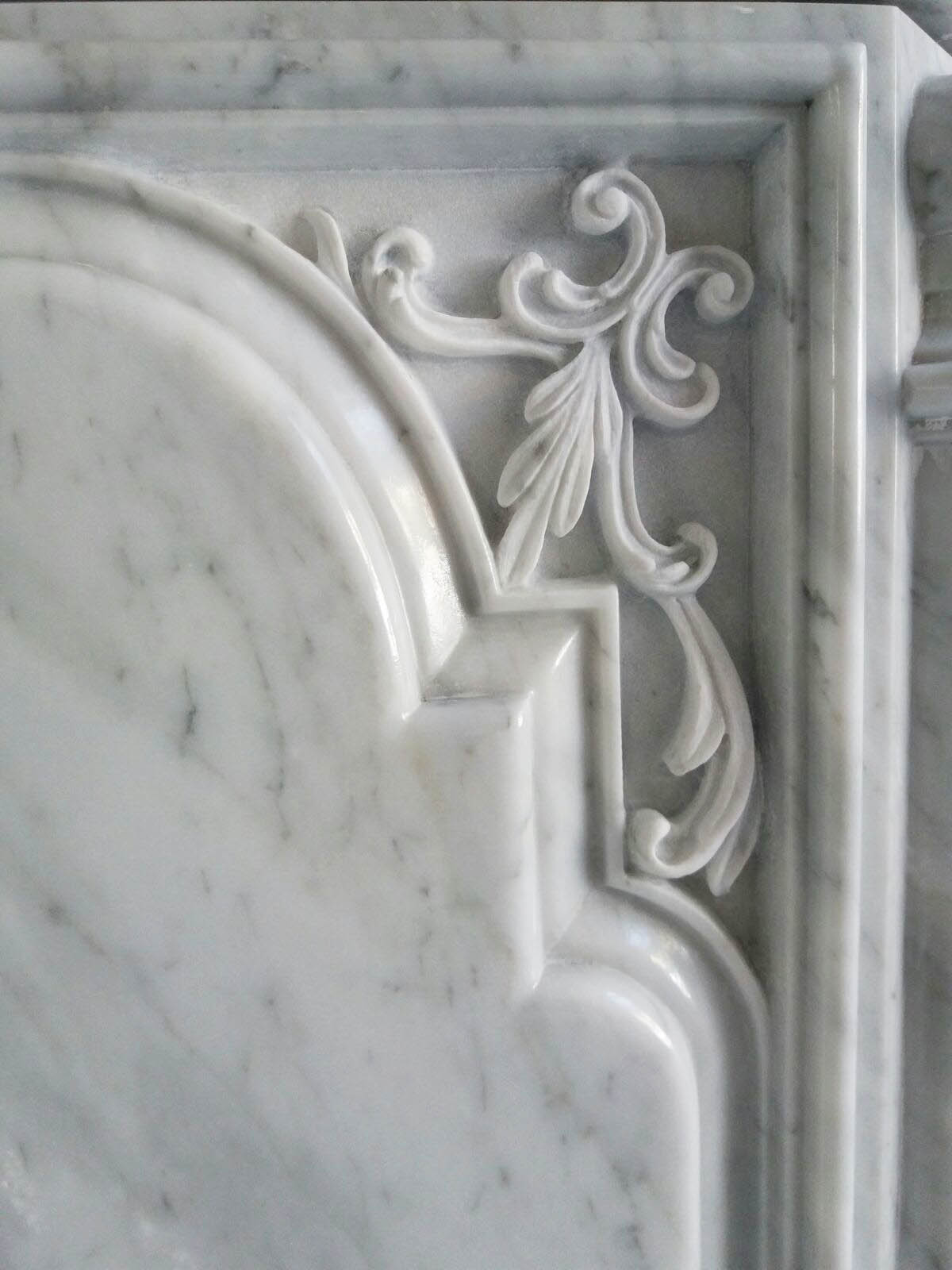 Close-up honed carved details