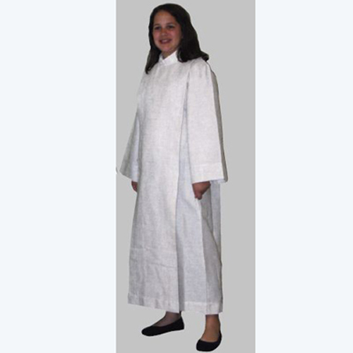100% Polyester Front Wrap Cassock Alb
