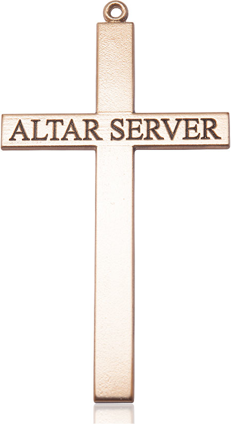 14kt Gold Alter Server Cross Medal