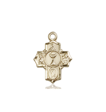 14kt Gold Communion 5-Way Medal