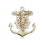 14kt Gold Anchor Crucifix Medal
